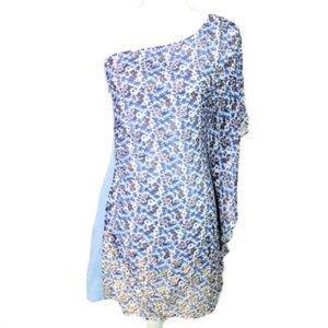 Bebe Silk Scarf One Shoulder Dress!